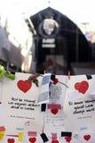 Leute vereinigten sich auf Barcelona-` s Rambla nach Terrorist atack wieder Lizenzfreies Stockbild