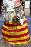Leute vereinigten sich auf Barcelona-` s Rambla nach Terrorist atack wieder Lizenzfreie Stockbilder