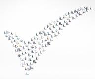 Leute-Verschiedenartigkeits-Mengen-Gemeinschaftskontrolle Mark Approved Concept Stockfoto