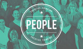 Leute-Verschiedenartigkeits-Menschlichkeits-Bevölkerungs-Gesellschafts-ethnisches Konzept Lizenzfreies Stockbild