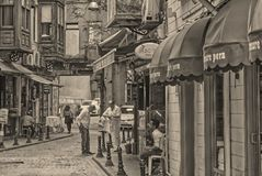 Leute von Istanbul stockbild