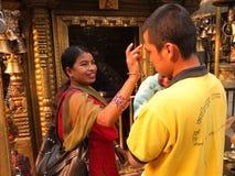 Leute von Nepal Lizenzfreie Stockfotos