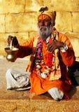 Leute während des Holi Festivals Lizenzfreie Stockbilder