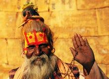 Leute während des Holi Festivals Stockbild