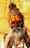 Leute während des Holi Festivals Lizenzfreie Stockfotos