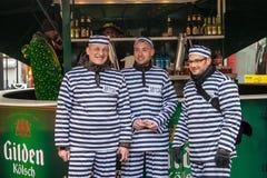 Leute während eines Karnevals in Köln Lizenzfreie Stockbilder
