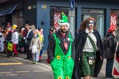 Leute während eines Karnevals in Köln Lizenzfreie Stockfotos