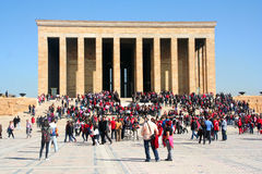 Leute, welche die Grundlage der Republik Türkei feiern Stockfotografie