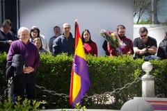 Leute, welche die spanische Republik des 30 ` s 8 feiern Stockfotografie