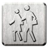 Leute-Zebrastreifen-Zeichen Lizenzfreie Stockfotografie