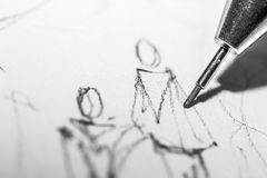 Leute-Zeichnung Lizenzfreie Stockfotografie