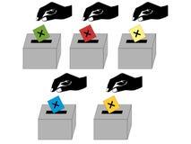Leuteabstimmung stock abbildung