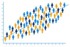 Leuteanalyse lizenzfreie abbildung