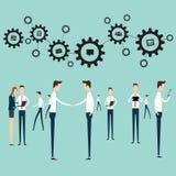 Leutearbeitsgeschäftskommunikations-Verbindungsvektor Lizenzfreie Stockbilder