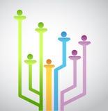 Leuteavatara-Network Connection. Illustration vektor abbildung