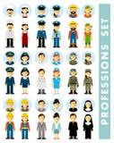 Leutebesetzungs-Charakterpaare stellten in flache Art lokalisiert auf weißem Hintergrund ein Lizenzfreie Stockfotografie