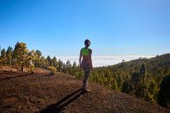 Leuteblick auf die Wolken Lizenzfreies Stockbild