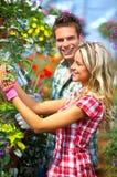 Leuteblumenhändler Lizenzfreie Stockbilder