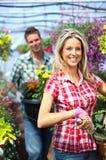 Leuteblumenhändler stockfoto