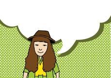 Leutedenken und -völker sprechend mit Dialogspracheblasen Lizenzfreie Stockbilder