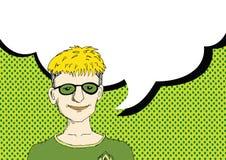 Leutedenken und -völker sprechend mit Sprache-Blase Stockbilder