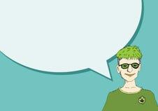 Leutedenken und -völker sprechend mit Sprache-Blase Stockbild