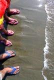 Leutefuß im Wasser Stockbild