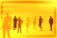 Leutehintergrund-Traumteam lizenzfreie abbildung