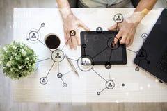 Leuteikonen-Struktur Soziales Netz Stunde Personalwesen-Management Geschäftsinternet und Technologiekonzept lizenzfreies stockfoto
