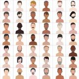 Leuteillustrations-Avatara Vektor Lizenzfreie Stockbilder
