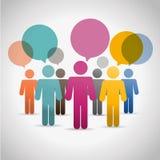 Leutekommunikationsvektor Stockfoto