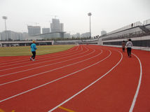Leutelaufen Stockbild