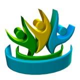 Leutelogo der Teamwork 3D Lizenzfreie Stockbilder