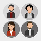 Leuteprofildesign Lizenzfreies Stockbild