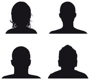Leuteprofilschattenbilder Stockfotografie