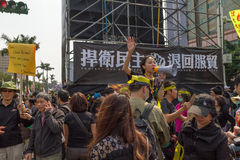 Leuteprotest Taiwans Handelsabkommen Lizenzfreie Stockfotos