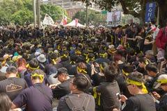 Leuteprotest Taiwans Handelsabkommen Lizenzfreies Stockfoto