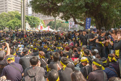 Leuteprotest Taiwans Handelsabkommen Stockfotos