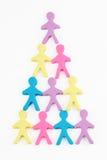 Leutepyramide Stockbilder