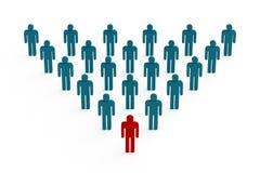 Leutepyramide Stockfotografie