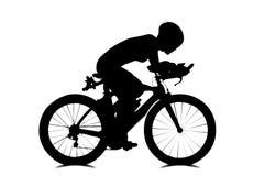 Leuteradfahren lokalisiert auf Weiß Stockfotos