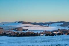 Leutersdorf, ανώτερο lusatia Στοκ Εικόνες