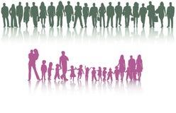 Leuteschattenbilder Lizenzfreie Stockbilder
