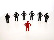 Leuteteamzeichen auf weißem Hintergrund Lizenzfreie Stockfotografie