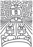 Leuteuhr Fernsehapparat Stockbild