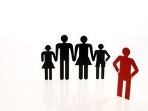 Leutezeichen auf weißem Hintergrund Lizenzfreies Stockbild