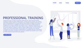 Leutezusammenarbeitung im Team Personenunterricht oder ausbildende neue Angestellte Leute, die Vektorzeichnung zusammenarbeiten stock abbildung