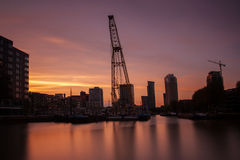 Leuvehaven rotterdam Royalty Free Stock Images