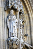 Leuven. Statues at the Gothic Town Hall in Leuven, Belgium Stock Photography