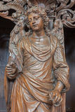 Leuven - Carved angel as symbol of virtuousness form St. Michaels church (Michelskerk) Royalty Free Stock Images